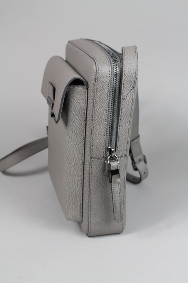 burberry london shaldon leather crossbody bag grey silver side