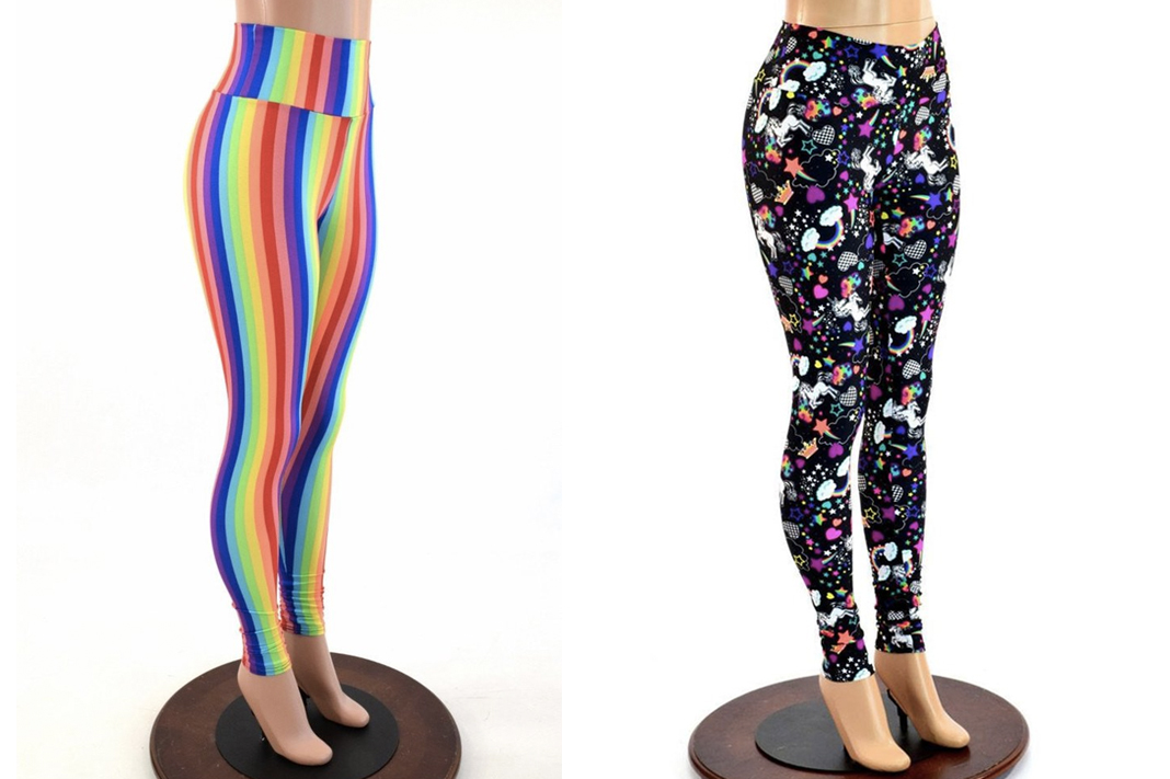 coquetry clothing activewear leggings rainbow tights schimiggy reviews