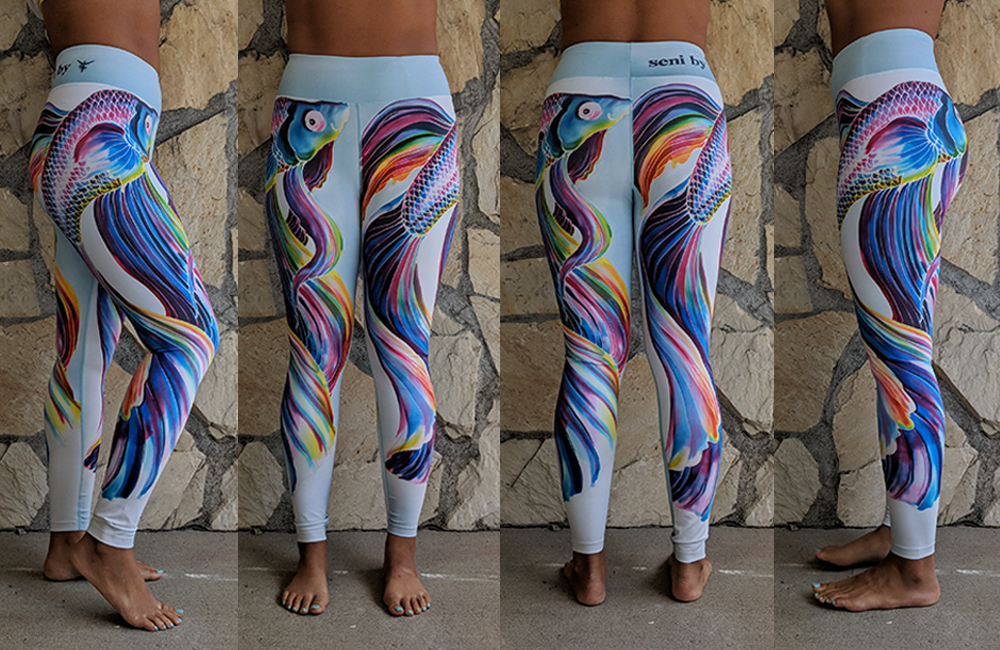 fit rebel review seni fighting fish leggings try on schimiggy