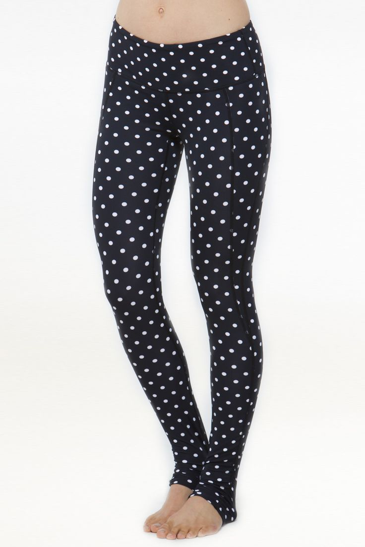 kira grace goddess long ruched leggings polka dot front
