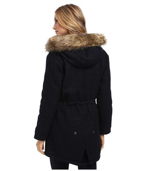spiewak and sons fishtail wool fur trim jacket back side