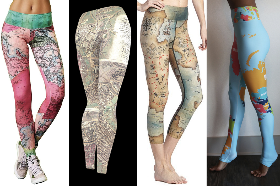 travel inspired leggings wanderlust map globe printed pants schimiggy reviews