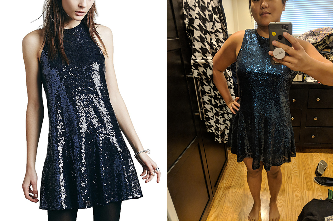 avoir aime blue sequin dress review asian mini dress schimiggy reviews