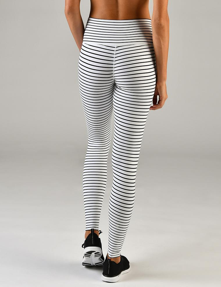glyder high power quiet stripe leggings back