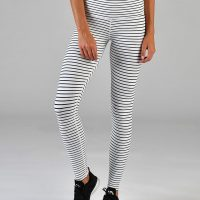 glyder high power quiet stripe leggings front