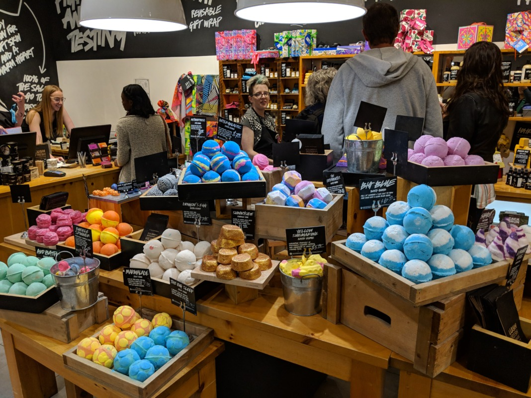 LUSH Cosmetics - Bath Bombs Display