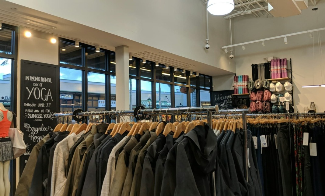 Racks of outerwear and pants
