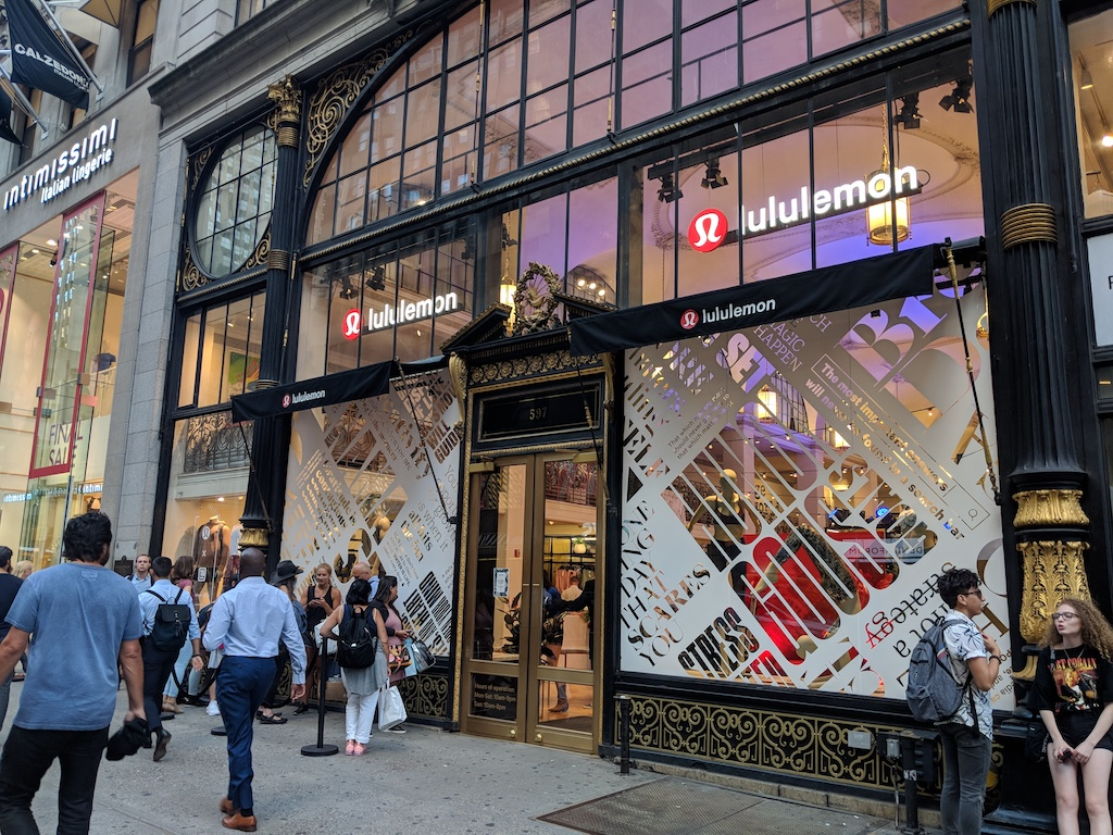 lululemon 20 year anniversary party line