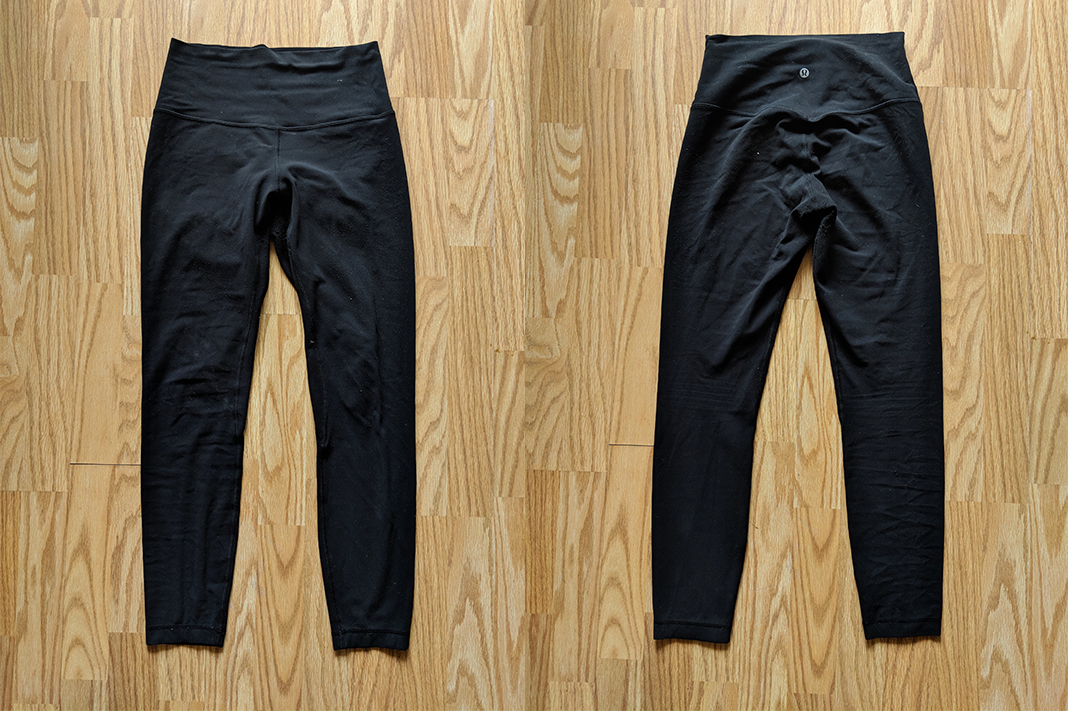 Align II Pants in Black (front and back)