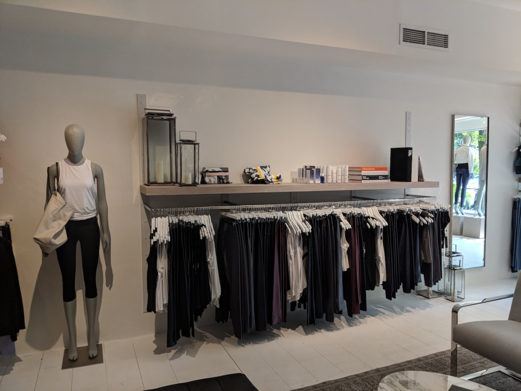 Carbon38 Display at their Bridgehampton store.