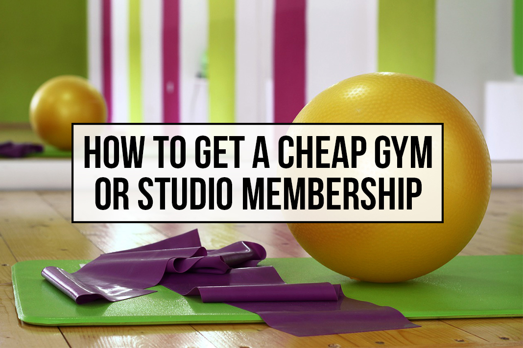 how to get cheap gym yoga studio membership