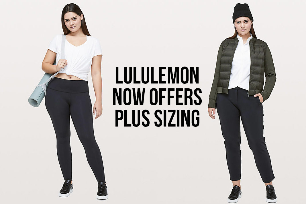 lululemon plus sizing now offered yoga pants activewear