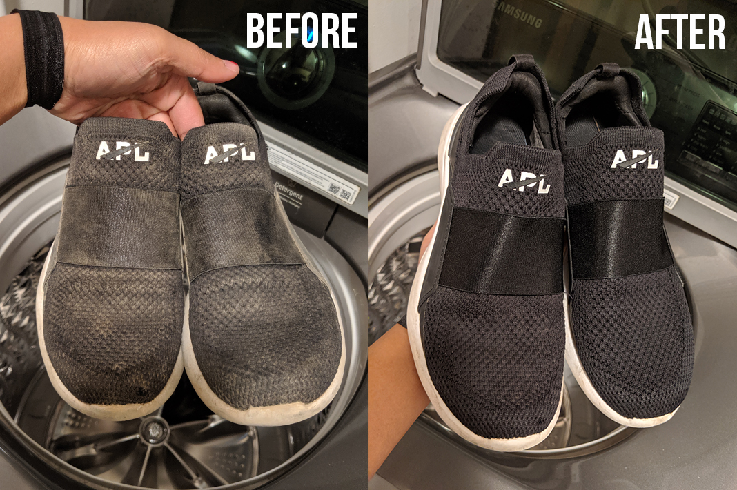 apl bliss sneakers before and after machine wash