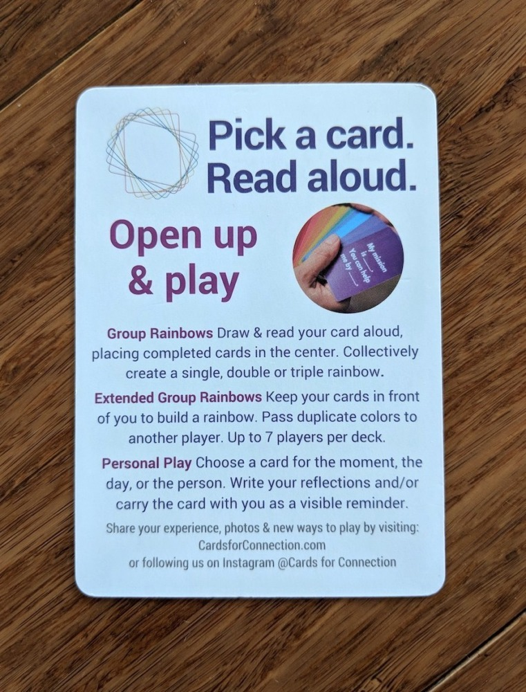 Cards for Connection - How to Play Instructions