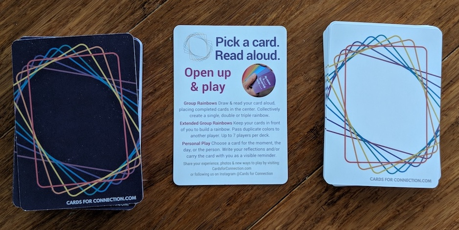 cards for connection white dark deck