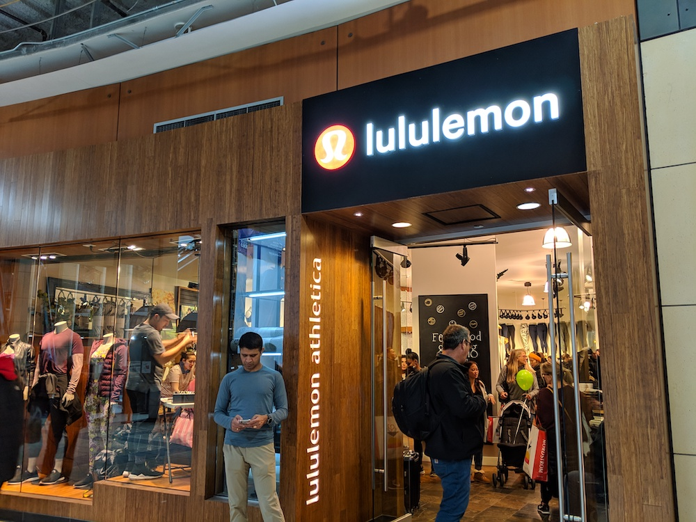 Lululemon Pacific Place Mall in Seattle Washington Black Friday Deals
