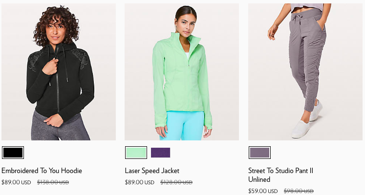 2018 Lululemon Black Friday Online Deals for Women | www.schimiggy.com