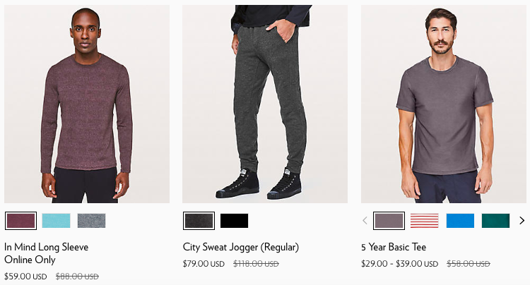 2018 Lululemon Black Friday Online Deals for Men | www.schimiggy.com