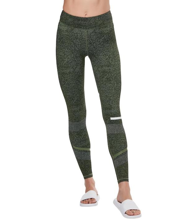 lilybod gemma burst green long leggings front