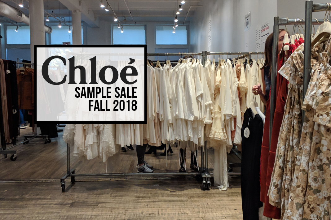 Products from the Chloe sample sale (Fall 2018)