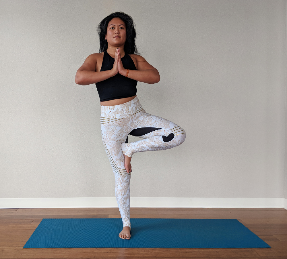 Tree Pose or Vrksasana yoga poses to improve concentration