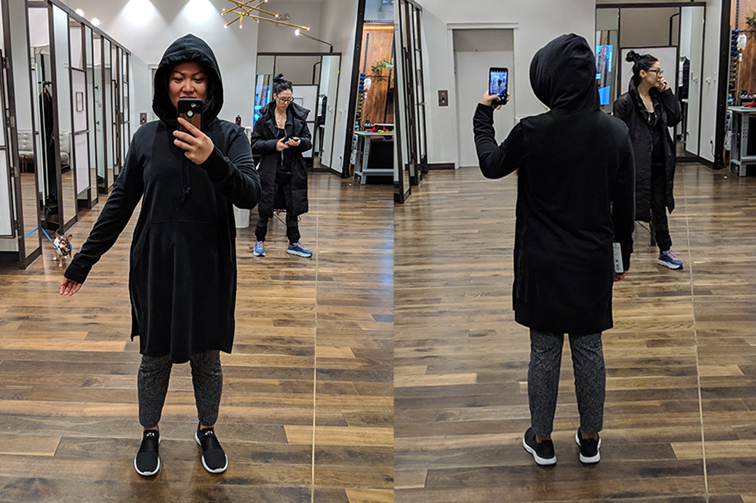Lululemon Lab Rappu Hoodie Dress in black 2018 schimiggy reviews