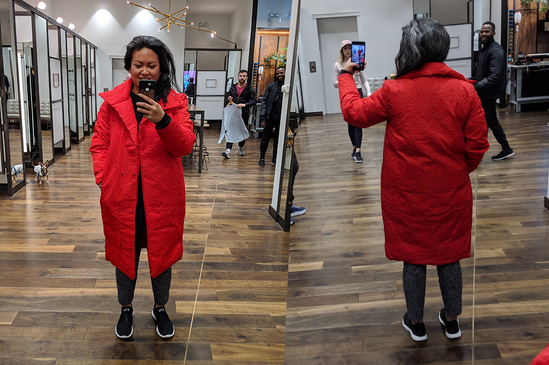 Lululemon Lab Shiwa Puff Button Up Coat RED 201 8Schimiggy reviews