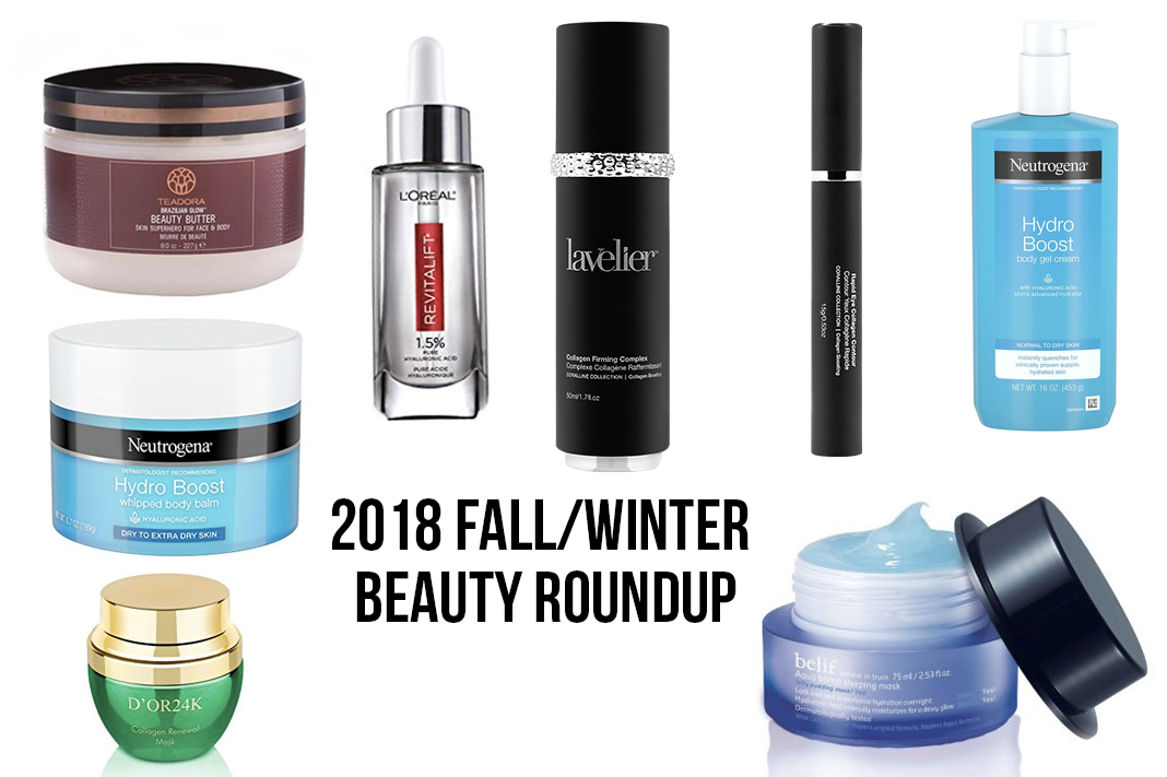 beauty roundup fall winter 2018 skincare schimiggy reviews teadora neutrogena hydro boost d'or 24k lavelier coralline l'oreal revitalift belif