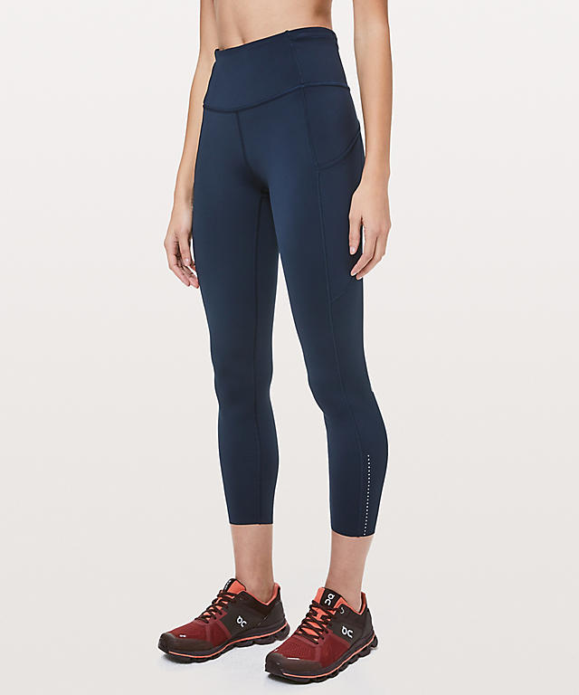 lululemon fast and free tight true navy schimiggy reviews