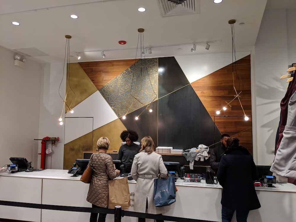 lululemon flagship new york store fashion district 2018 cash wrap
