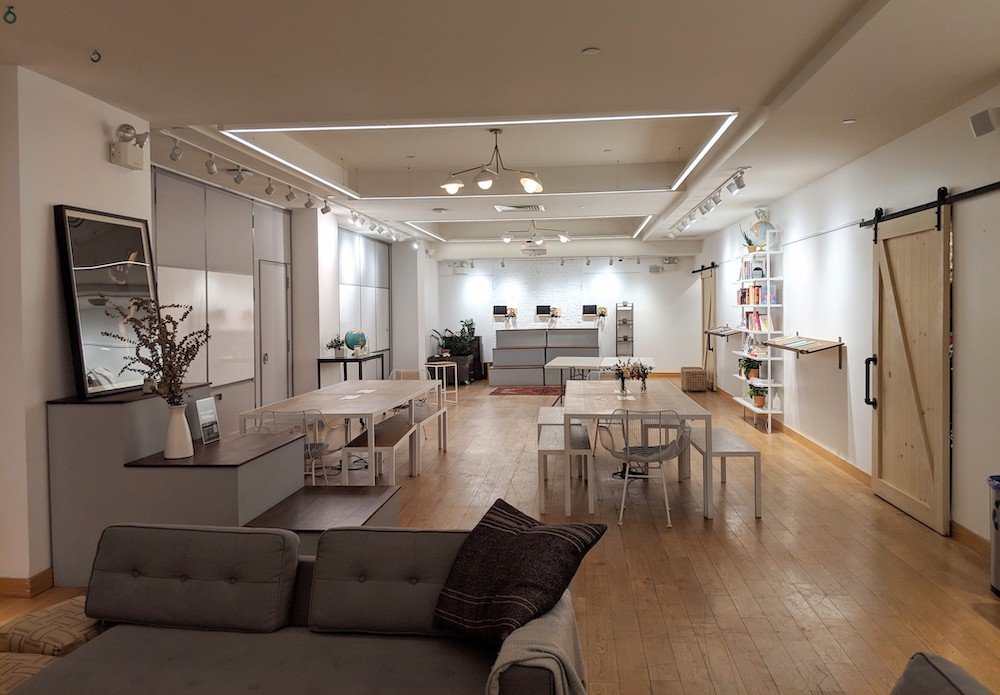 lululemon flagship new york store fashion district hub seventeen coworking space