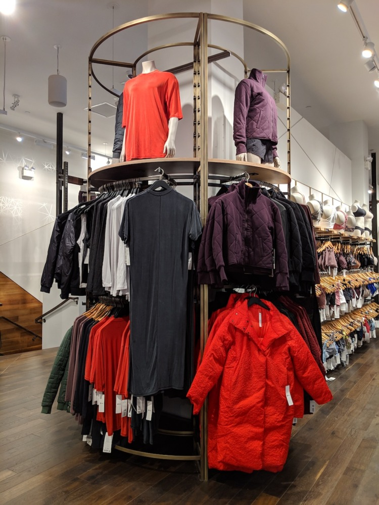lululemon flagship new york store fashion district men womens lululemon lab display