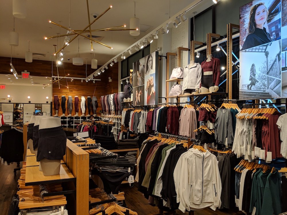 lululemon flagship new york store fashion district womens back of store 2018