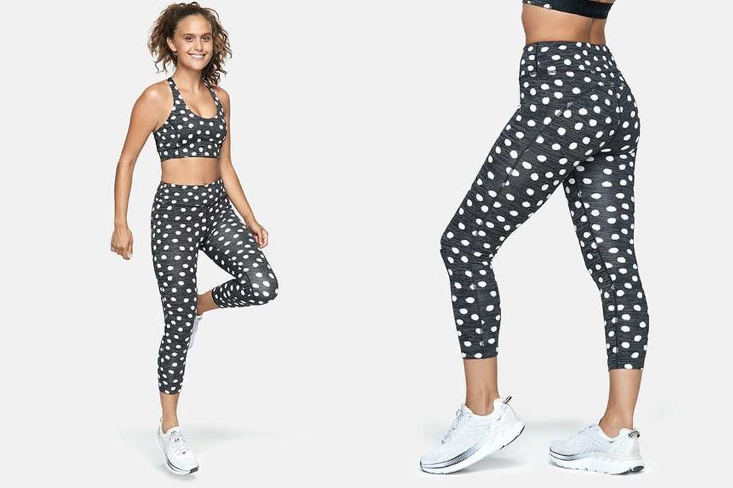 outdoor voices polka dot leggings activewear workout clothing schimiggy reviews
