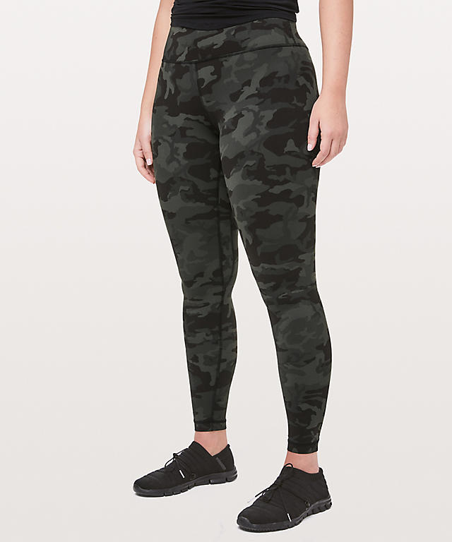 align high waist leggings icmi gator green incognito camo front