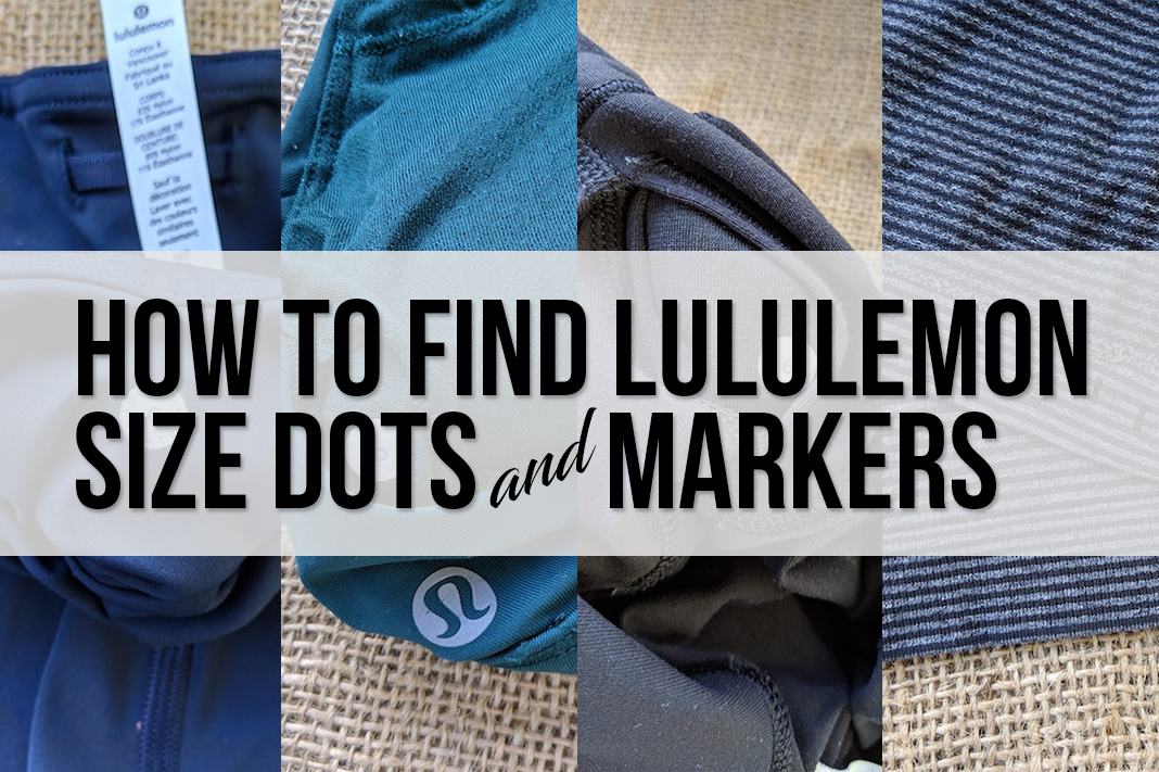 how to find lululemon size dots and markers on activewear schimiggy reviews
