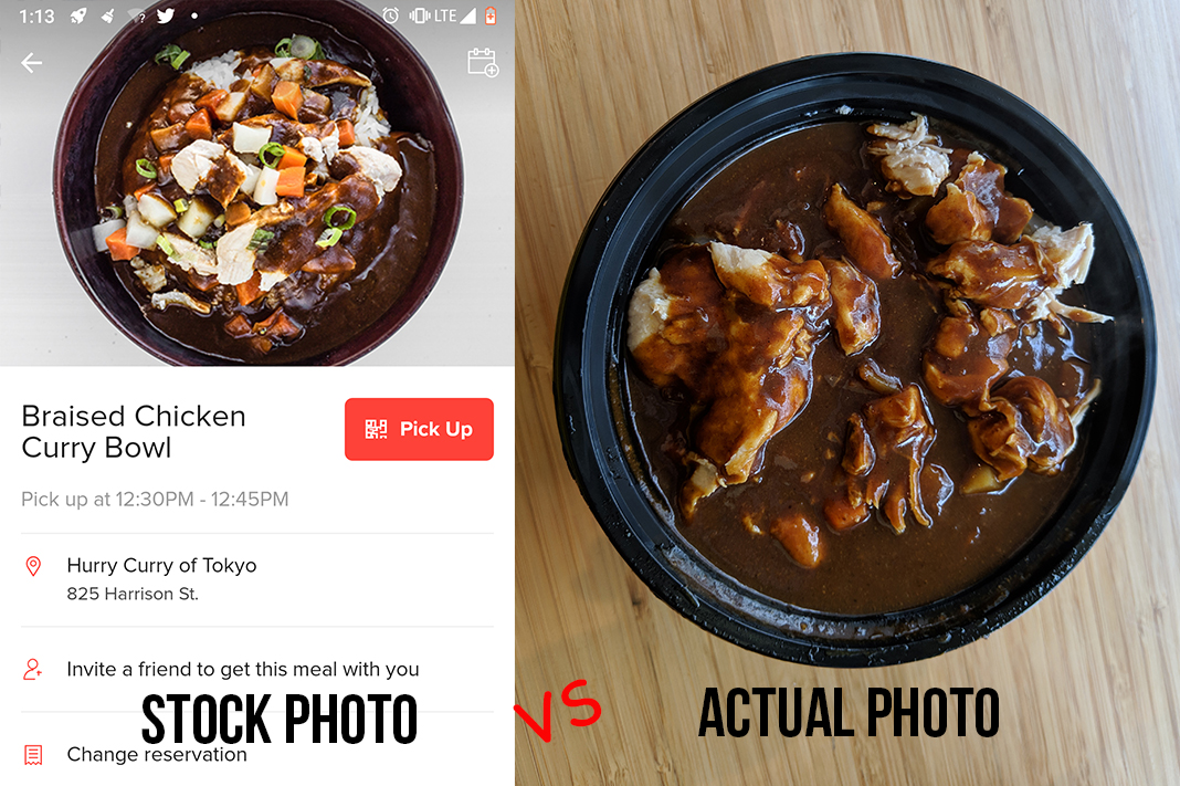 hurry curry of tokyo seattle braised chicken curry bowl stock versus actual mealpal lunch