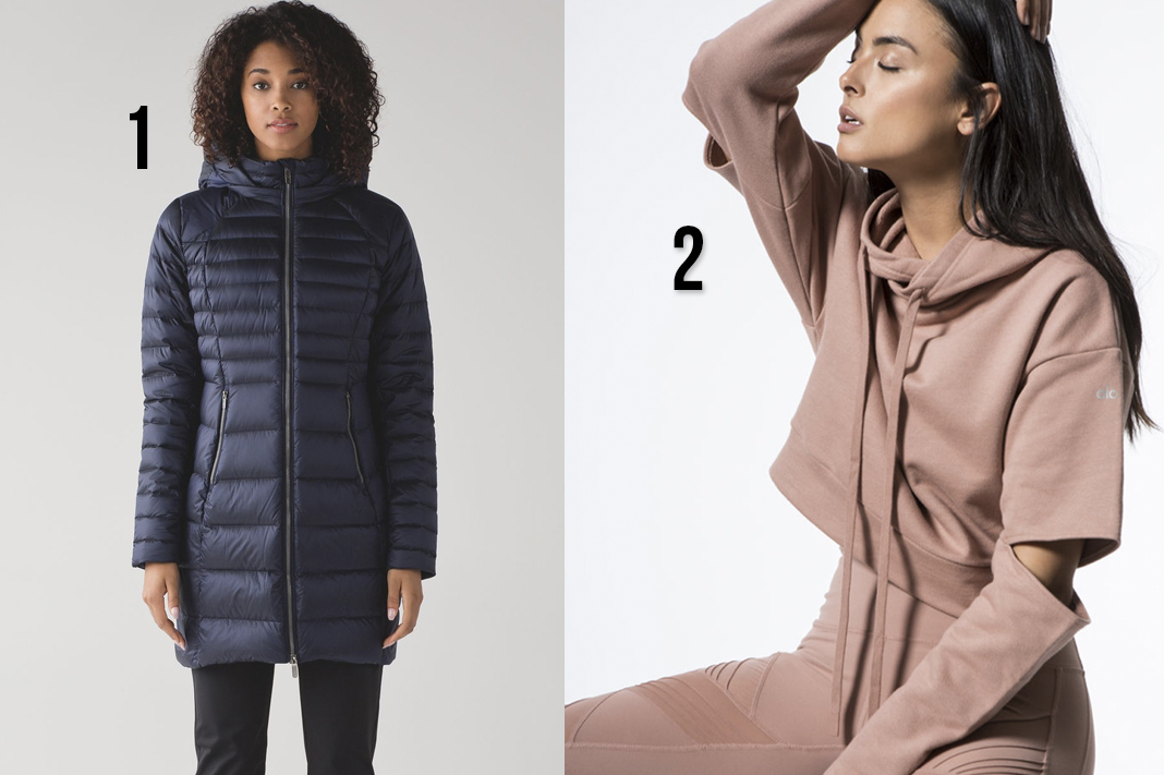 top 2018 outerwear picks lululemon brave the cold jacket alo yoga peak hoodie sweater schimiggy reviews