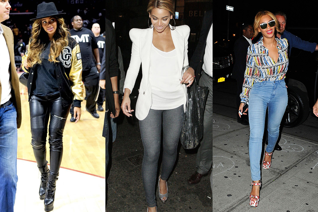 beyonce in leggings jeggings faux leather pants style trend schimiggy reviews