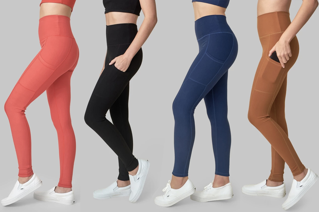 wolven threads side pocket leggings eco-friendly sustainable