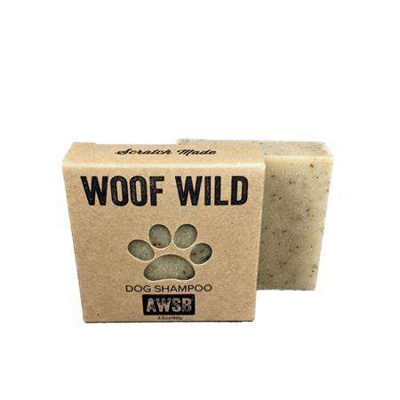 a wild soap bar woof wild dog shampoo bar