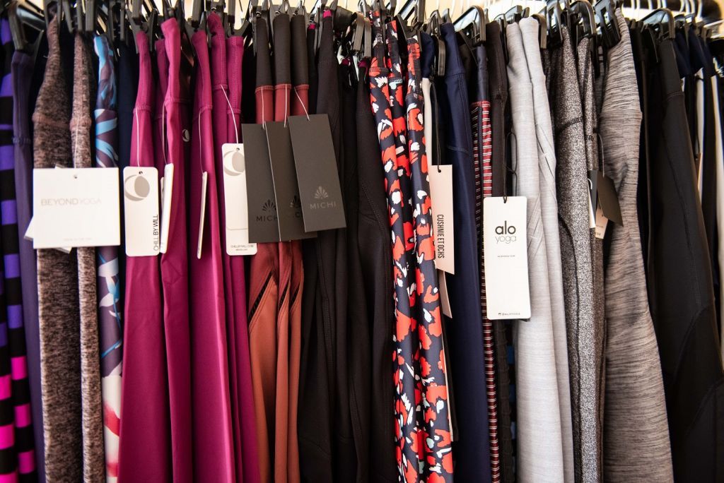 carbon38 sample sale legging racks 2