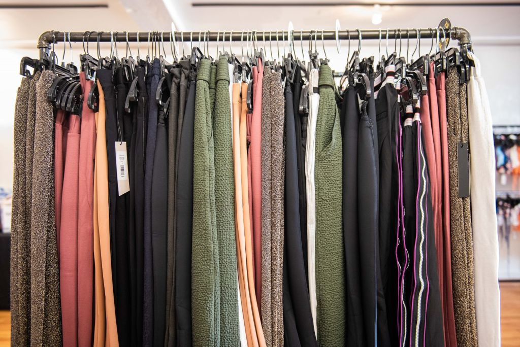 carbon38 sample sale pant rack