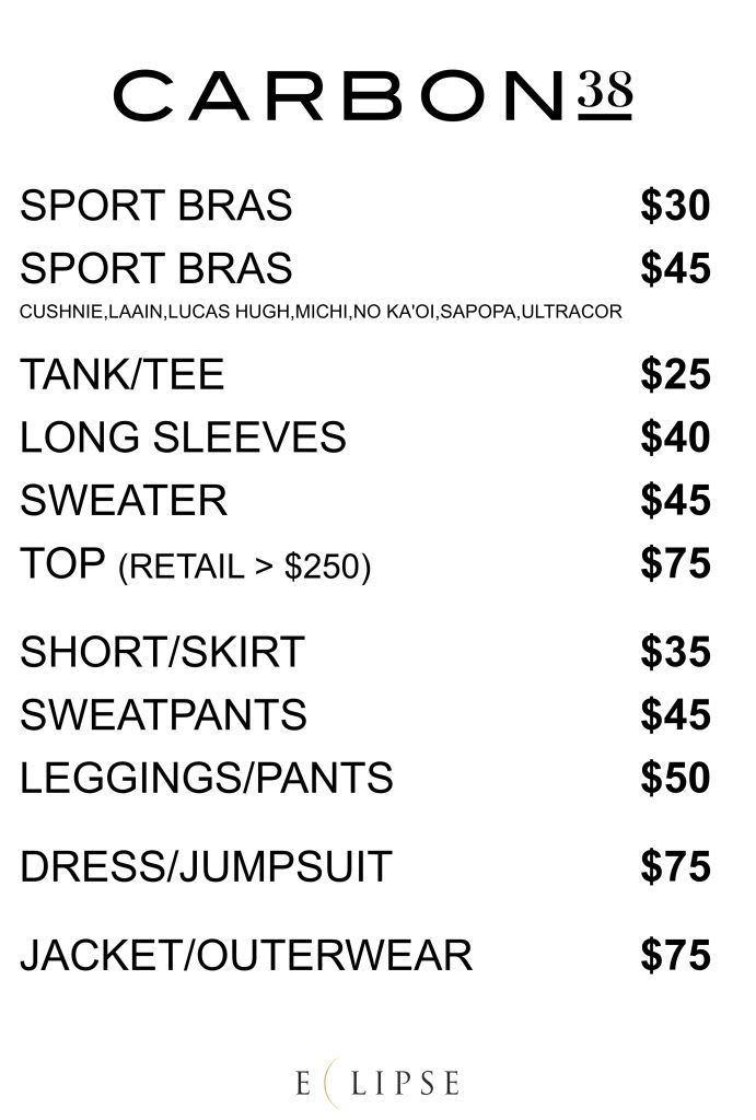 carbon38 sample sale price list 2