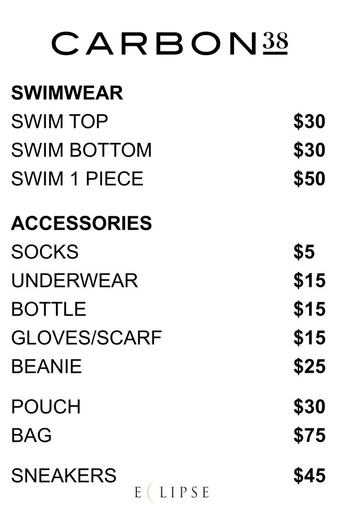 carbon38 sample sale price list