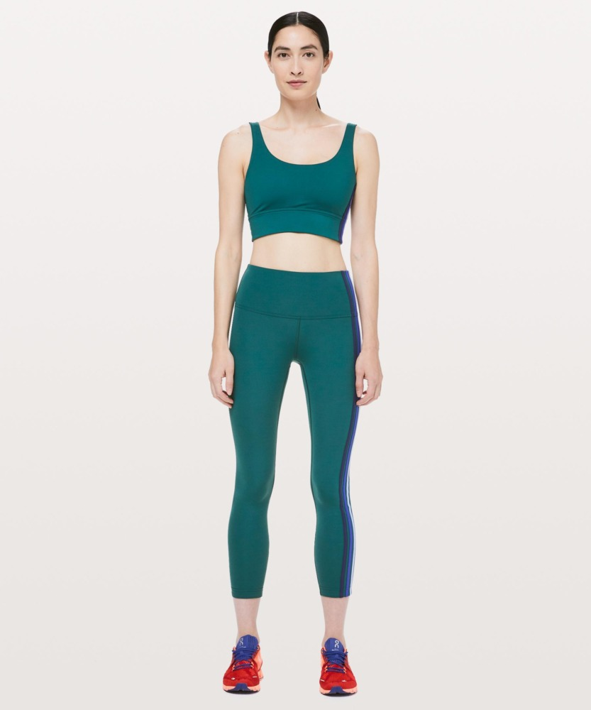 lululemon takea. hint legging 7 8 emerald green front
