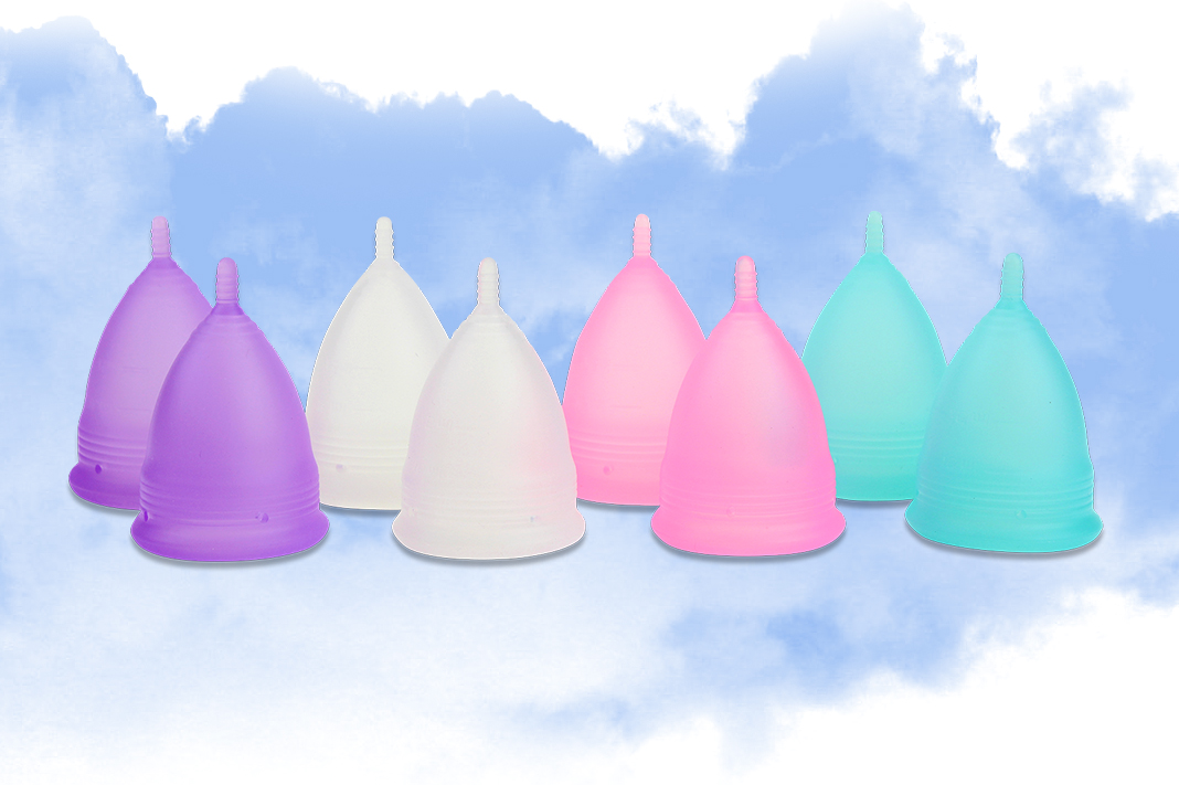 menstrual cup period solution colorful pastel