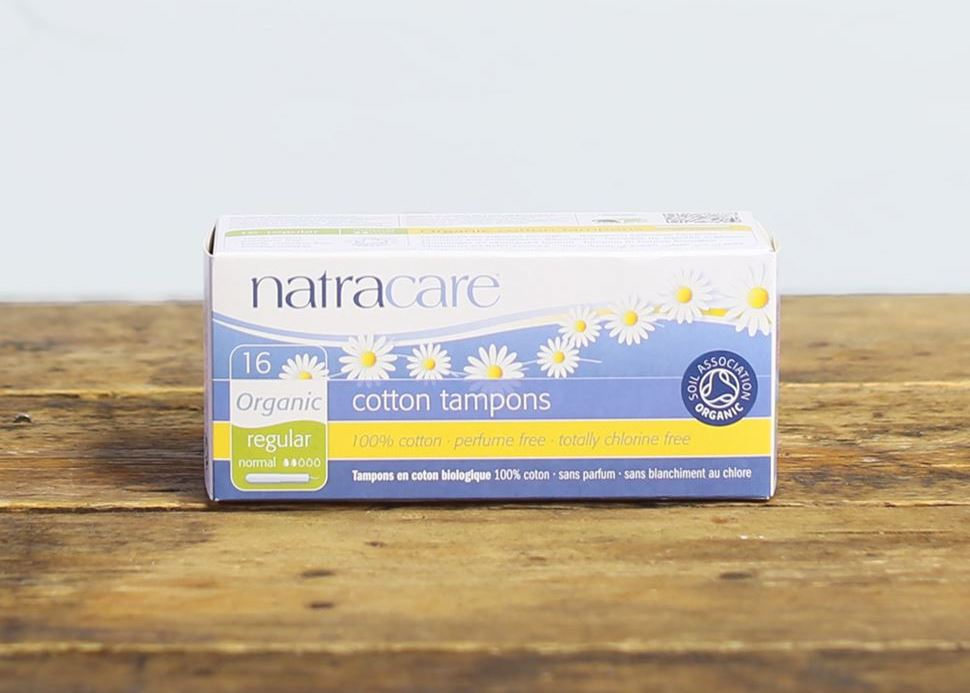 natracare organic eco-friendly biodegradable cotton tampons