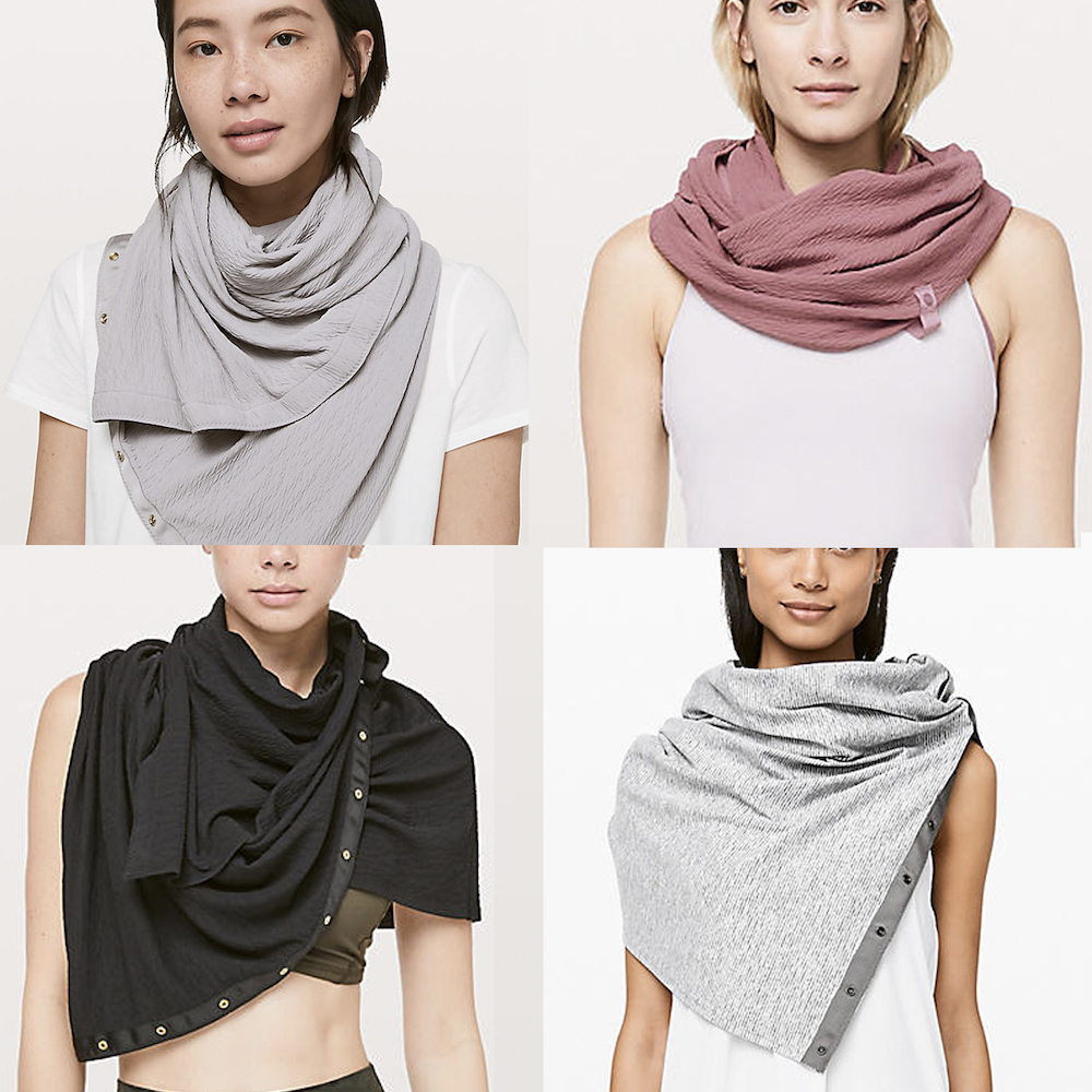 lululemon guide on how to wear a vinyasa scarf