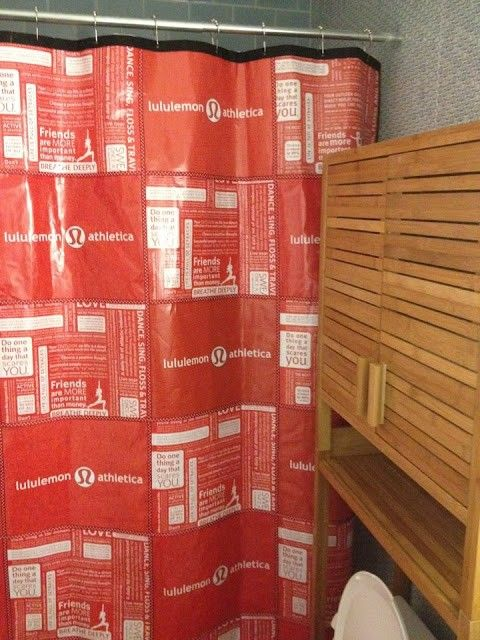 lululemon shopping bag shower curtain